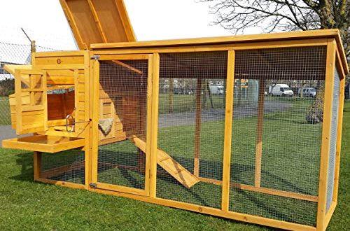 Hühnerstall Hühnerhaus Cocoon Hühnerstall grosser Hühnerstall Hühnerhaus Winter sommer Modell 2 bis 4 Huhner 2.5m lang mit Nistkasten und einem Dach das vollständig geoffnet werden kann - komplett uberdachter Laufstall