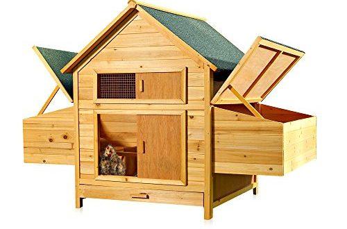 Melko® XXL Hühnerstall Hühnerhaus mit 2 Nestboxen, 160 x 115,5 x 100 cm, aus Holz